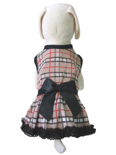 Up Collection The Tartan Printed Dress For Dogs, Xx-Small