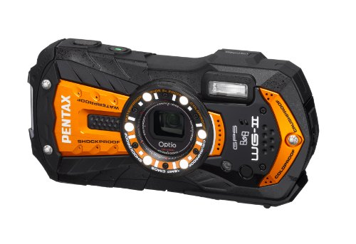 PENTAX Optio WG-2 GPS 16 MP Rugged Waterproof Digital Camera with 5X Optical Zoom, 3-inch LCD and GPS Functionality (Orange )