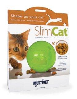 Multivet Slimcat Cat Toy Ball Feeder (Green)