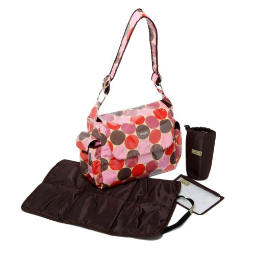 Bibi And Mimi Diaper Bag, Dotties Red