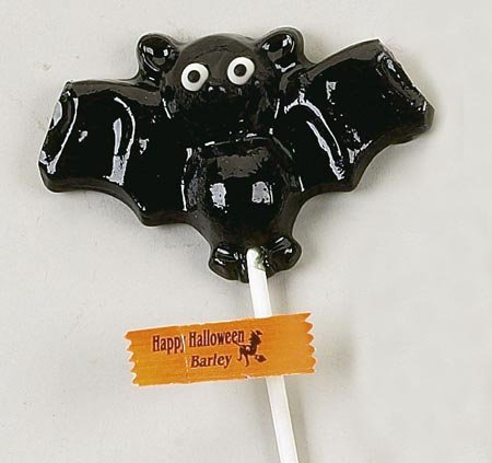 Black Bat Shaped Lollipop: 24 Count