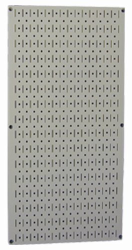 Wall Control Pegboard 32In X 16In Gray Metal Pegboard Tool Board Panel