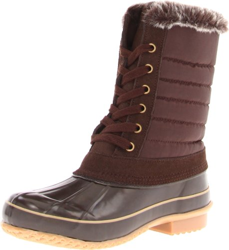 Khombu Women's Boston Bean Boot,Brown,6 B (M) US