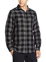 Columbia Camisa Hombre Hoyt Peak (Negro / Gris Oscuro)