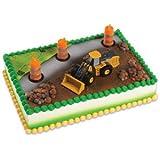 John Deere Construction Scene Cake Topper Decorating Kit