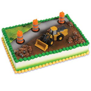John Deere Construction Scene Cake Topper Decorating Kit - 1