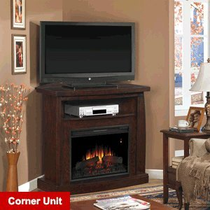 ClassicFlame Boomerang Electric Fireplace Media Console in Midnight Cherry - 26DE6979-X144