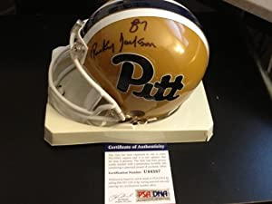 Rickey Jackson PSA DNA Certified Autographed Pittsburgh Panthers Mini Helmet by 12-6 Sportscards & Collectibles
