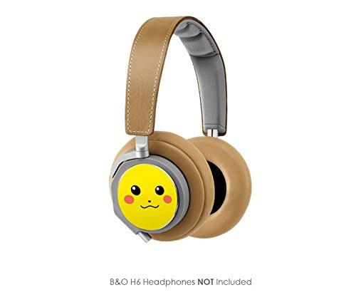 Pikachu Vinyl Art Decal Cups (Designed To Fit Bang & Olufsen H6 Headphones - Headphones Not Included)