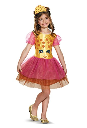 Shopkins Kookie Cookie Classic Child Girls Dress Halloween Pretend Play Costume