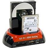 DOCKING STATION MIXTE SATA/IDE - USB/eSATA +LECTEUR DE CARTE Fonction back up