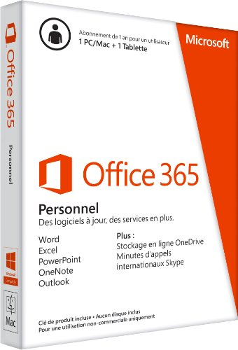 Office 365 Personal 1 Year Subscription - French