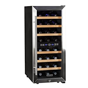 Koldfront 24 Bottle Free Standing Dual Zone Wine Cooler