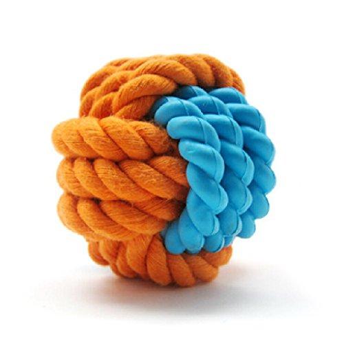 Artikelbild: SymbolLife Hunde Baumwoll-Seil / Rubber Ball Haustiere Smarter Interactive IQ Futterball kauen Hundespielzeug Hund Katze Kauspielzeug - Dia 2-1/2in Hundespielzeug