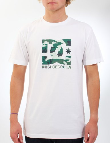DC Shoes The Race Short Sleeve Logo Men's T-Shirt White Small