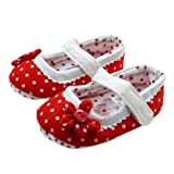 WXBUY Baby Girls Dot flower Soft Bottom Toddler Shoes 3-6 Months