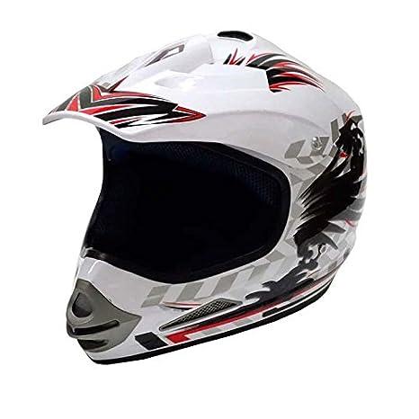 Cross casque 819-3 pour enduro, quad, aTV ou moto cross-blanc-taille l
