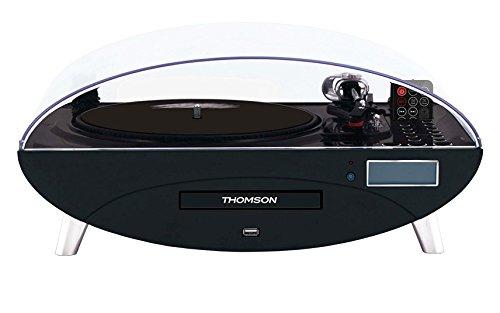 Thomson TT400CD Plattenspieler mit CD Player und USB in glänzend schwarz