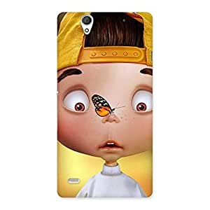 Ajay Enterprises Fill Confusd Funny Boy Back Case Cover for Sony Xperia C4