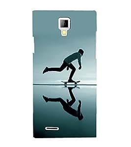 printtech Skateboard Man Mirror Back Case Cover for Micromax A99 Canvas Xpress
