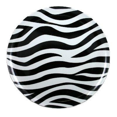 Momentum Brands Zebra Melamine Dinner Plate 11 Inch Pack of 4