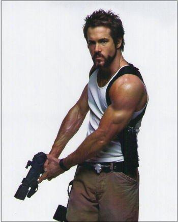 ブロマイド写真★『ブレイド3』ライアン・レイノルズ/銃を持つハンニバル・キング