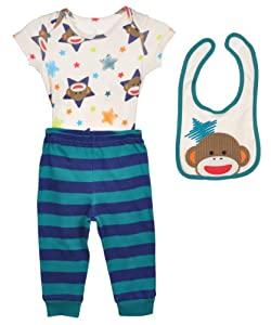 "Sock Monkey ""Monkey Galaxy"" 3-Piece Outfit"