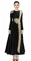 Fabron black designer dress for women