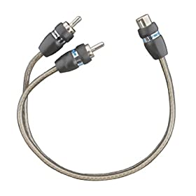 Tsunami RCA701-Y1 RCA 1/Female to 2/Male Y Connector Cable (6 Inch, Gray)
