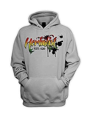 Tribal T-Shirts Herbalist 420 Cannabis Men's Pouch Pocket Hoodie Hooded Sweatshirt