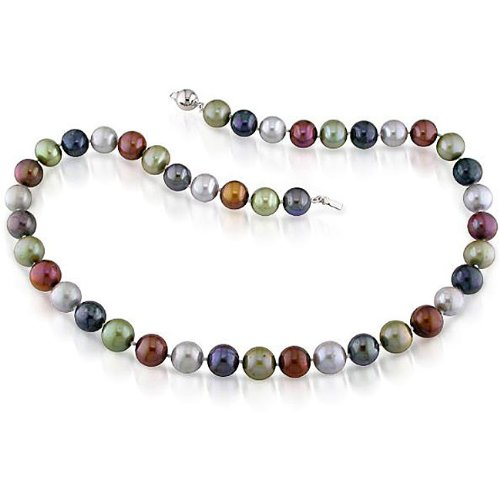 New York Pearls Multi-colored FW Pearl Necklace (9-10 mm)