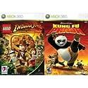 2 Xbox 360 Games: Lego Indiana Jones + Kung Fu Panda
