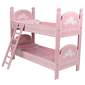 18 doll bunk bed perfect fit for 18 inch american girl doll bed rooms more. Black Bedroom Furniture Sets. Home Design Ideas