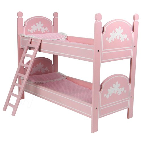 White Wooden Bunk Beds 2619 front