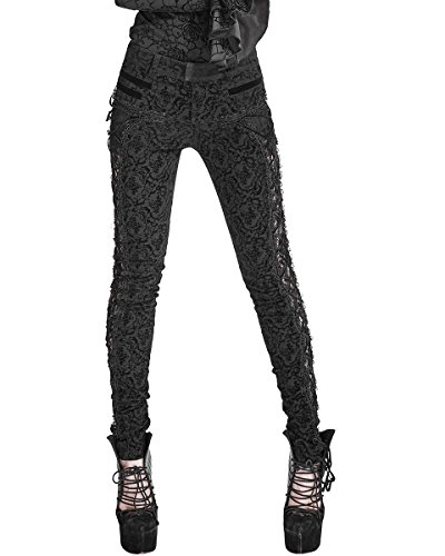 Punk Rave -  Jeans  - Donna Black S - Formato delle Donne 40