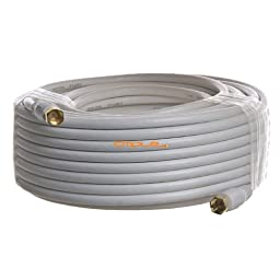 Cmple - RG6 F Type Coaxial 18AWG CL2 Rated 75Ohm Cable -75ft