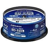 三菱化学 4倍速対応BD-R DL 20枚パック 50GB ホワイトプリンタブルMITSUBISHI VBR260YP20SD1