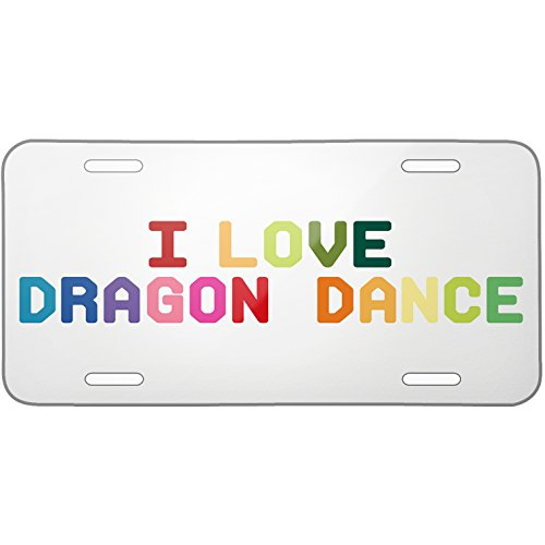 Metal License Plate I Love Dragon Dance, Colorful – Neonblond
