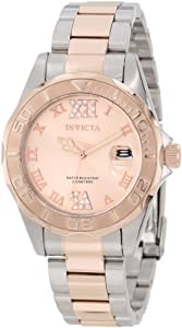 "Invicta Women's 12853 ""Pro Diver"" Two-Tone Crystal-Accented Watch"