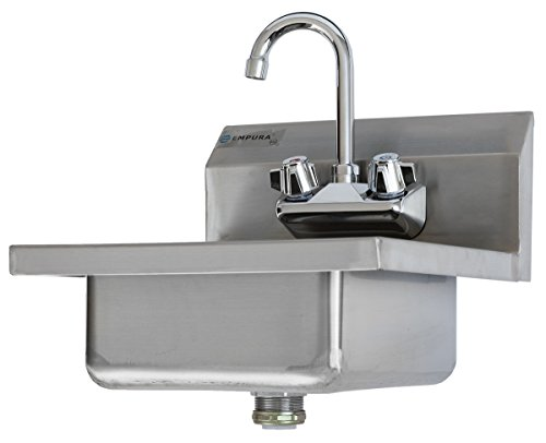 Commercial Stainless Steel Wall Mount Hand Washing Sink W Faucet 638632233901