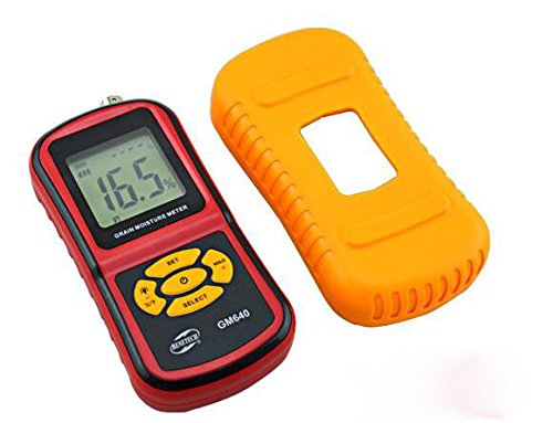 Portable Digital Grain Moisture Meter with Measuring Probe LCD Display Tester for Corn Wheat Rice Bean Wheat Hygrometer GM640 by TC (Rice Moisture Meter compare prices)