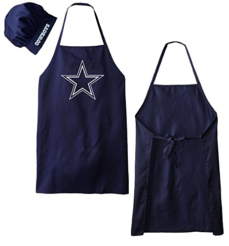 Dallas Cowboys NFL Barbeque Apron and Chef's Hat (Cowboys Chef Hat And Apron Set compare prices)