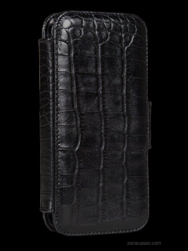 Great Price Sena WalletBook for iPhone 5 - Croco Black - 826816