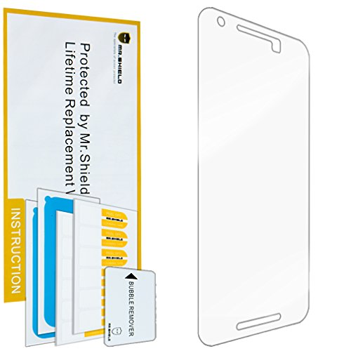 Mr Shield For Huawei (Google) Nexus 6P 2015 Newest [Tempered Glass] screen protector [0.3mm Ultra Thin 9H Hardness 2.5D Round Edge] with Lifetime Replacement Warranty