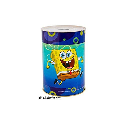 Salvadanaio Vintage in Metallo, SpongeBob, Dimensioni 13,5 X 19 cm.