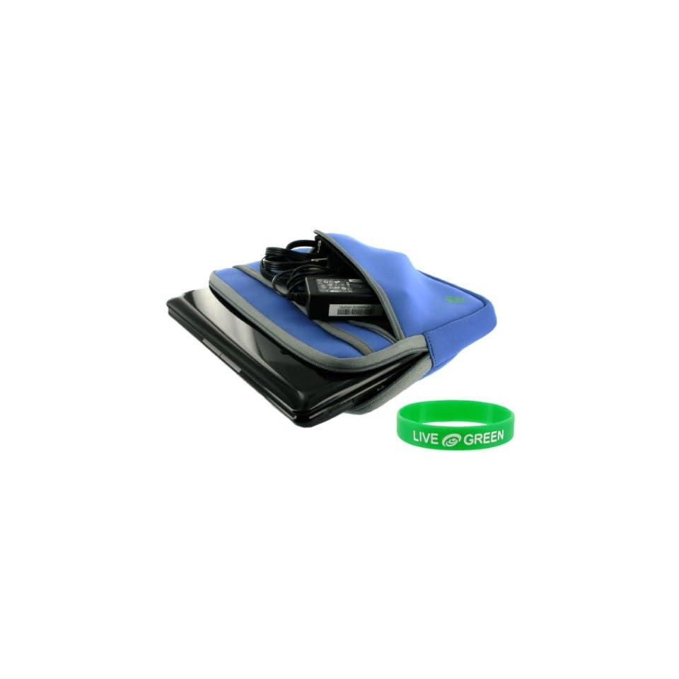 Samsung N120 12GBK 10.1 Inch Netbook Neoprene Sleeve Case   Tri Pocket   Blue