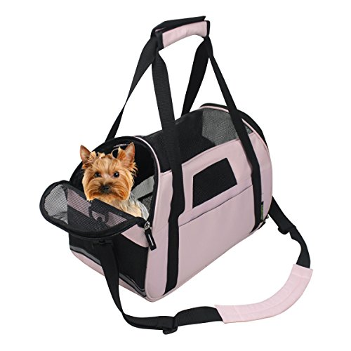 Jespet Portable Comfort 19-Inch Soft Sided Pet Carrier Airline Travel Cat/Dog Small Animals Tote Bag