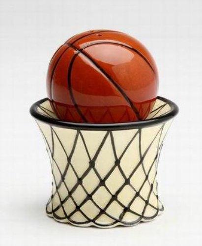 Magnetic Basketball with Net Salt and Pepper Shaker Set