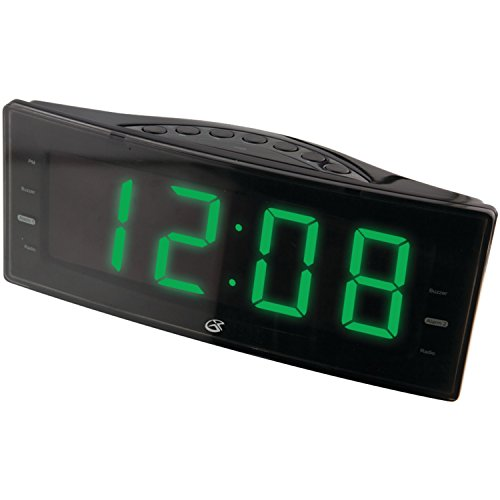 GPX, Inc. C353B AM/FM Clock Radio with Dual Alarms and LED Display (Black) (Digital Clock Radio Ipod compare prices)