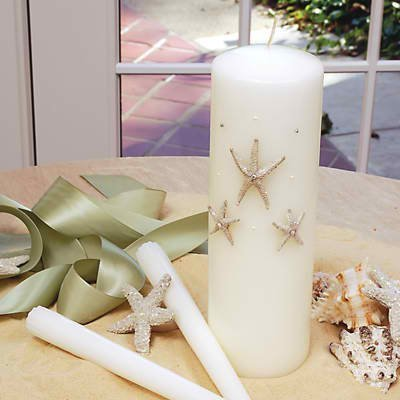 Concepts Beach Unity Candle Ivory